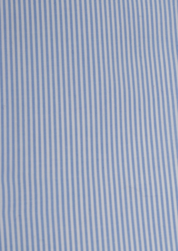 Chemise habillée Slim en popeline de coton rayée bleue - Father and Sons 5414
