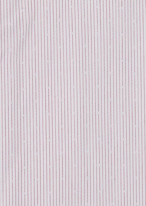 Chemise habillée Slim en popeline de coton rayée rose - Father and Sons 5141