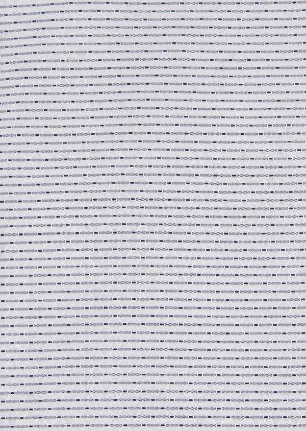 Chemise habillée Slim en façonné de coton rayee gris - Father and Sons 5148