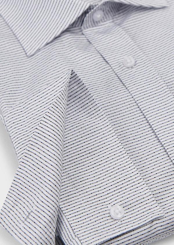 Chemise habillée Slim en façonné de coton rayee gris - Father and Sons 5150
