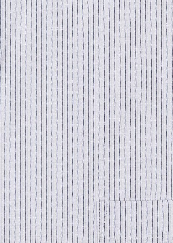 Chemise habillée Slim en coton façonné rayée noire - Father and Sons 5176