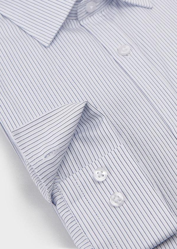 Chemise habillée Slim en coton façonné rayée noire - Father and Sons 5178