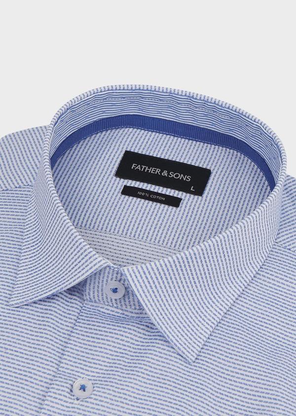 Chemise habillée Slim en coton rayée gris - Father and Sons 5156