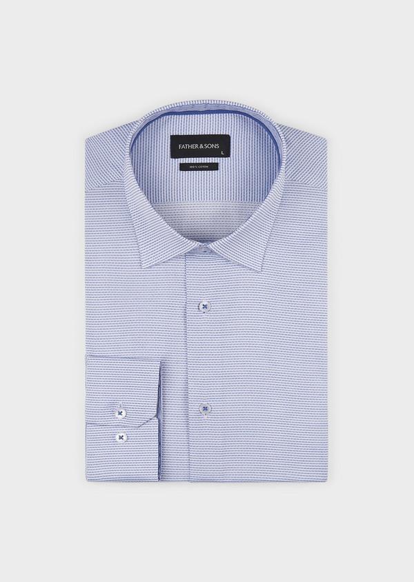 Chemise habillée Slim en coton rayée gris - Father and Sons 5154