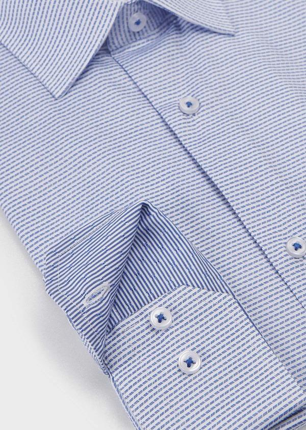 Chemise habillée Slim en coton rayée gris - Father and Sons 5157