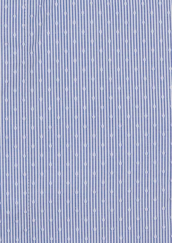 Chemise habillée Slim en coton rayée bleue - Father and Sons 5162