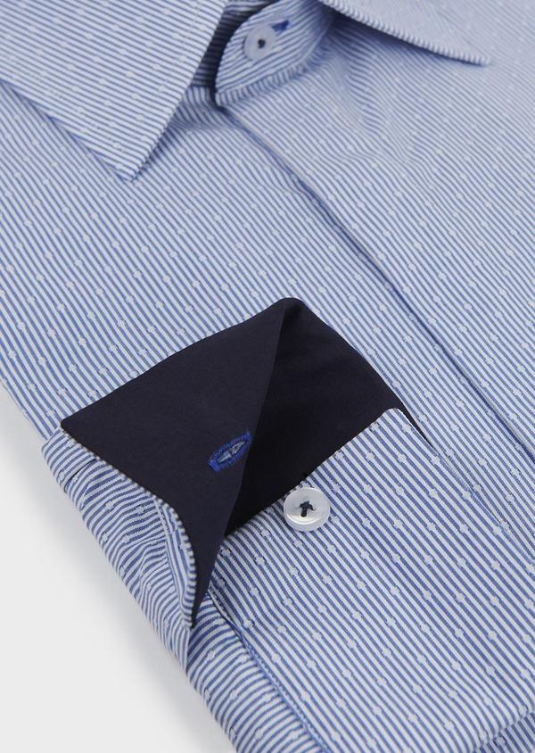 Chemise habillée Slim en coton rayée bleue - Father and Sons 5164
