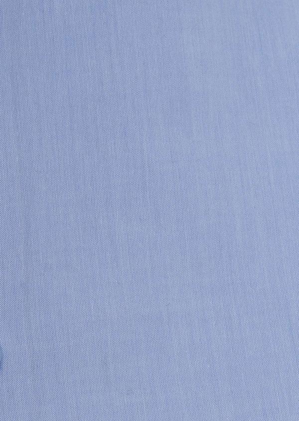 Chemise habillée Slim en popeline de coton uni bleu azur - Father and Sons 5421