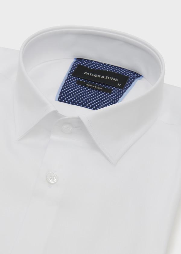Chemise habillée Slim en satin blanc - Father and Sons 5247