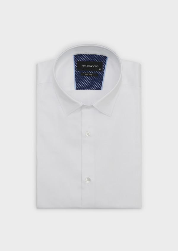 Chemise habillée Slim en satin blanc - Father and Sons 5245