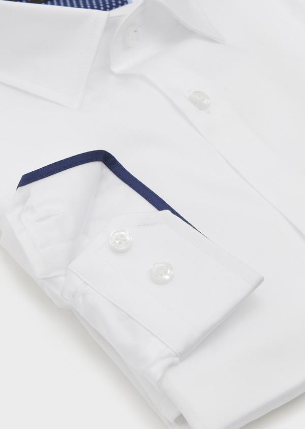 Chemise habillée Slim en satin blanc - Father and Sons 5248