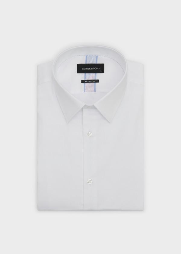 Chemise habillée Slim en satin uni blanc - Father and Sons 5273