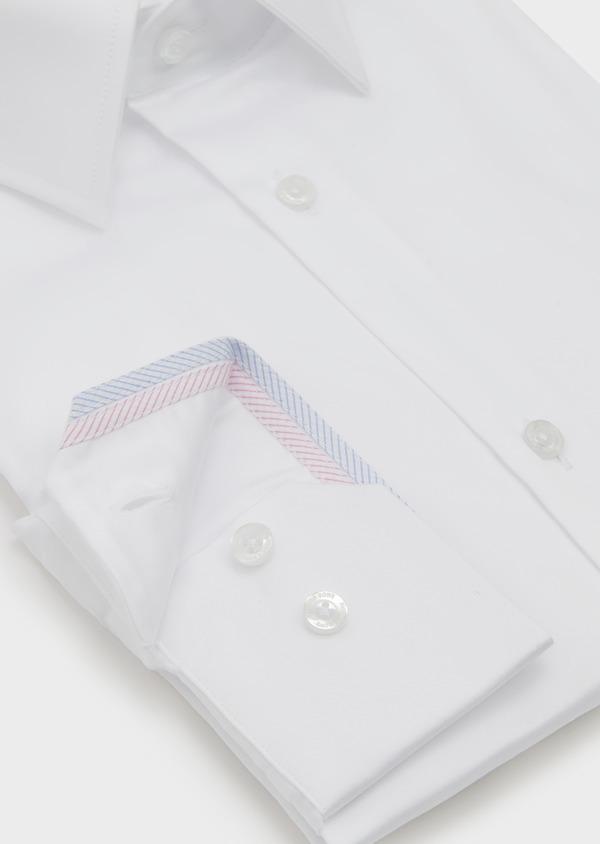 Chemise habillée Slim en satin uni blanc - Father and Sons 5276