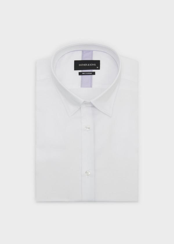 Chemise habillée Slim en satin uni blanc - Father and Sons 5308