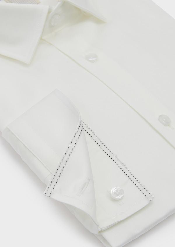 Chemise habillée Slim en satin uni écru - Father and Sons 5353