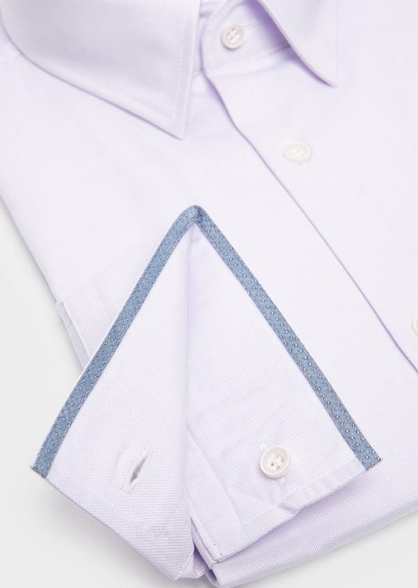 Chemise habillée Slim en coton natté violet - Father and Sons 5346