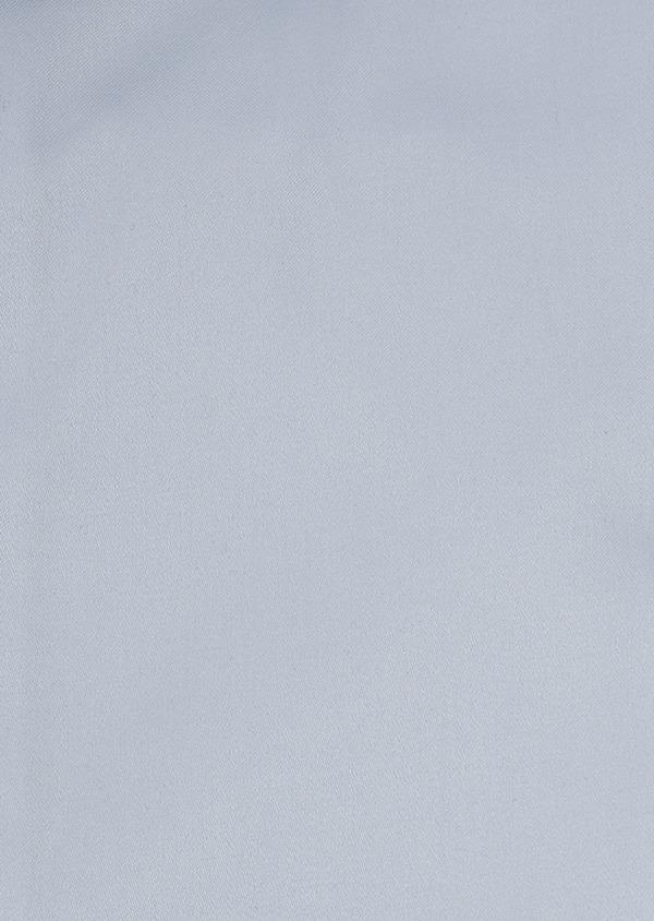 Chemise manches courtes Slim en satin uni bleu ciel - Father and Sons 8033