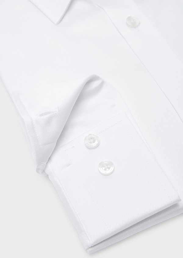 Chemise habillée Regular en coton sergé uni blanc - Father and Sons 8599