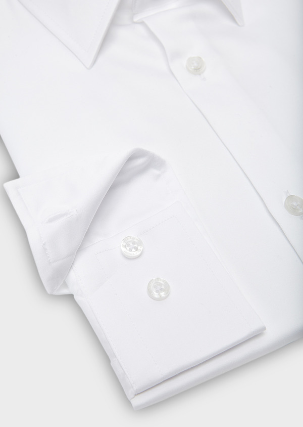 Chemise habillée Slim en satin uni blanc - Father and Sons 8592