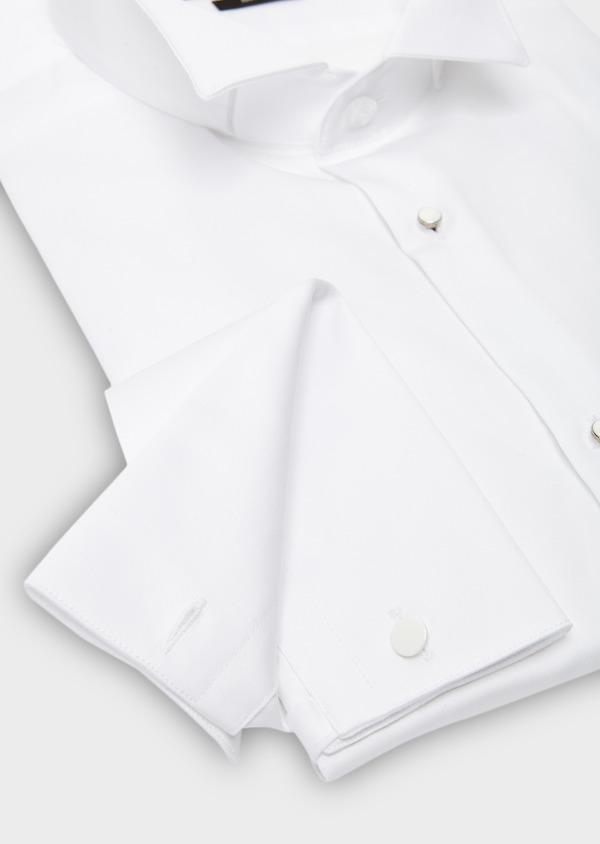 Chemise habillée Slim en satin blanc à col cassé - Father and Sons 8634
