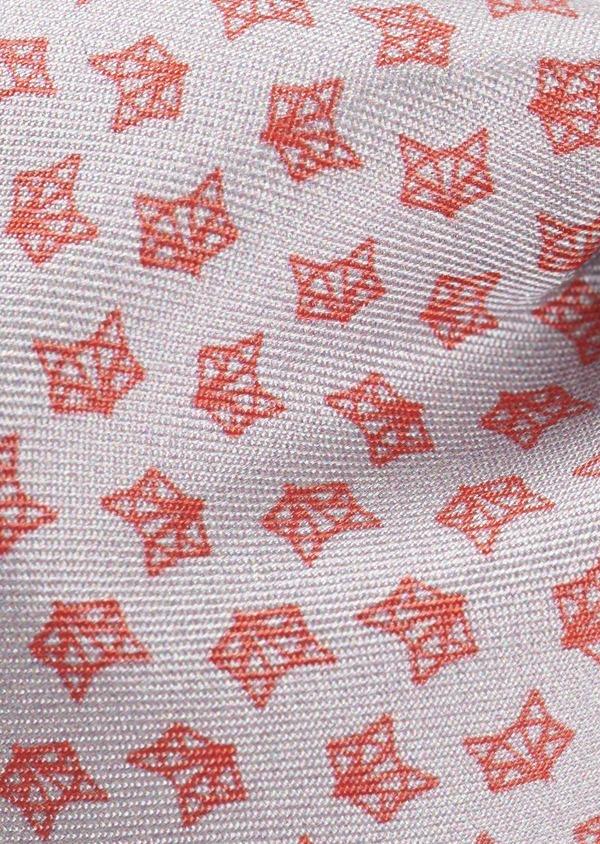 Coffret noeud-papillon, pochette et boutons de manchettes gris clair et rouge - Father and Sons 5660