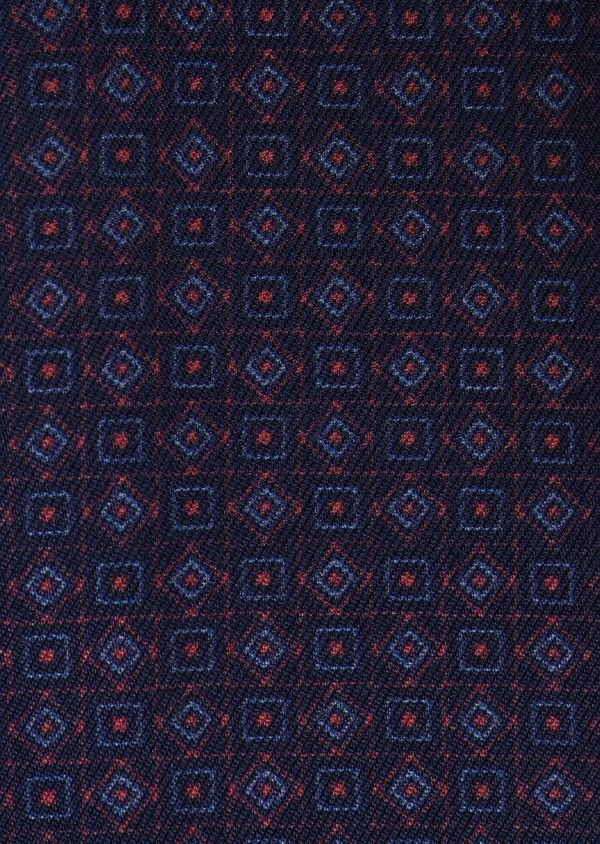 Coffret noeud-papillon, pochette et boutons de manchettes bleu indigo et bordeaux - Father and Sons 5668