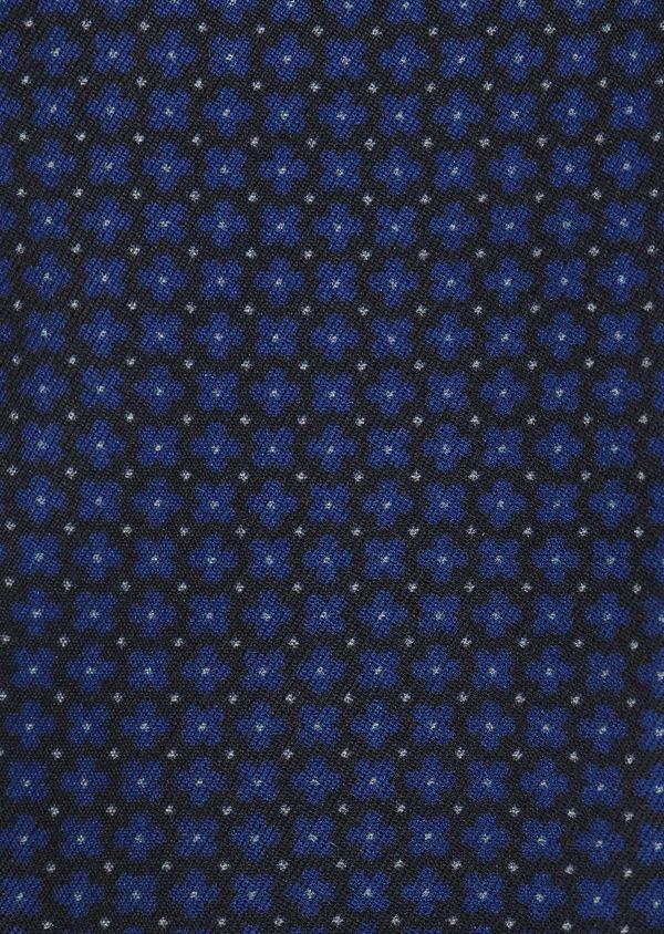 Coffret noeud-papillon, pochette et boutons de manchettes marine et bleu - Father and Sons 5664