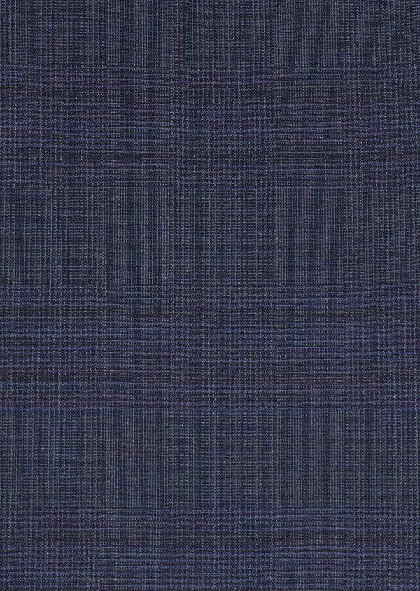 Costume 2 pièces Regular en laine bleu indigo Prince de Galles - Father and Sons 5712
