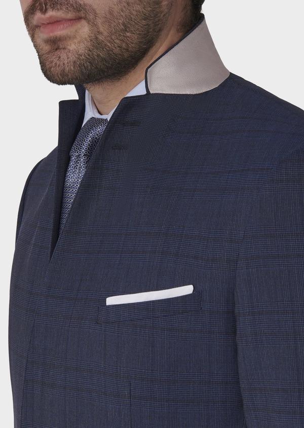 Costume 2 pièces Regular en laine bleu indigo Prince de Galles - Father and Sons 5715