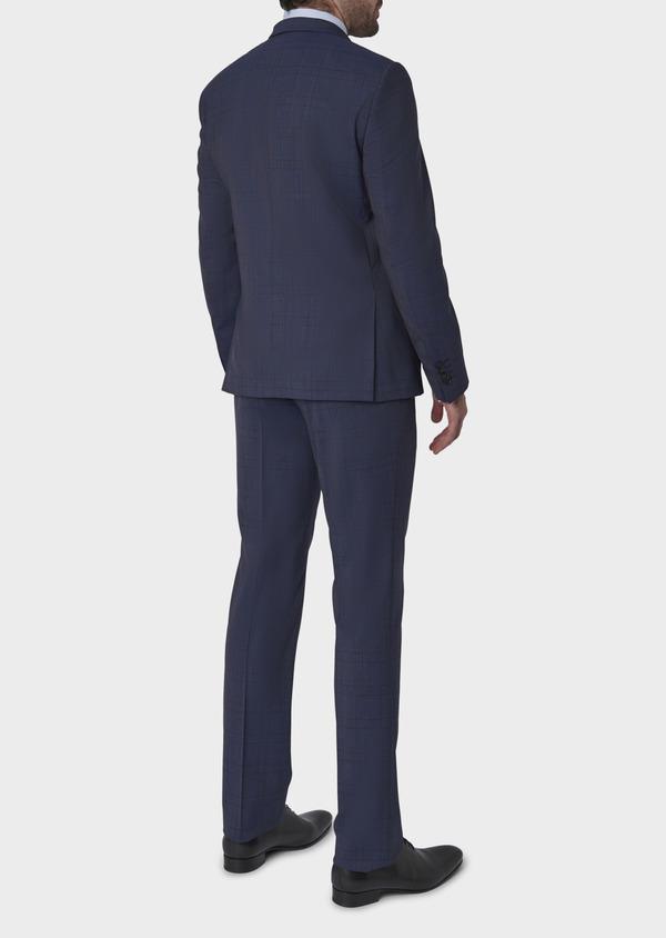 Costume 2 pièces Regular en laine bleu indigo Prince de Galles - Father and Sons 5714