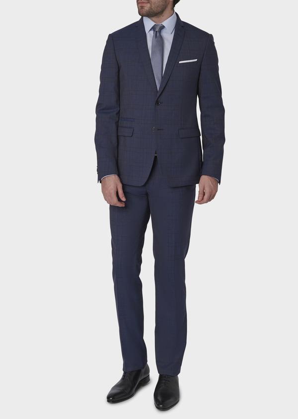 Costume 2 pièces Regular en laine bleu indigo Prince de Galles - Father and Sons 5713