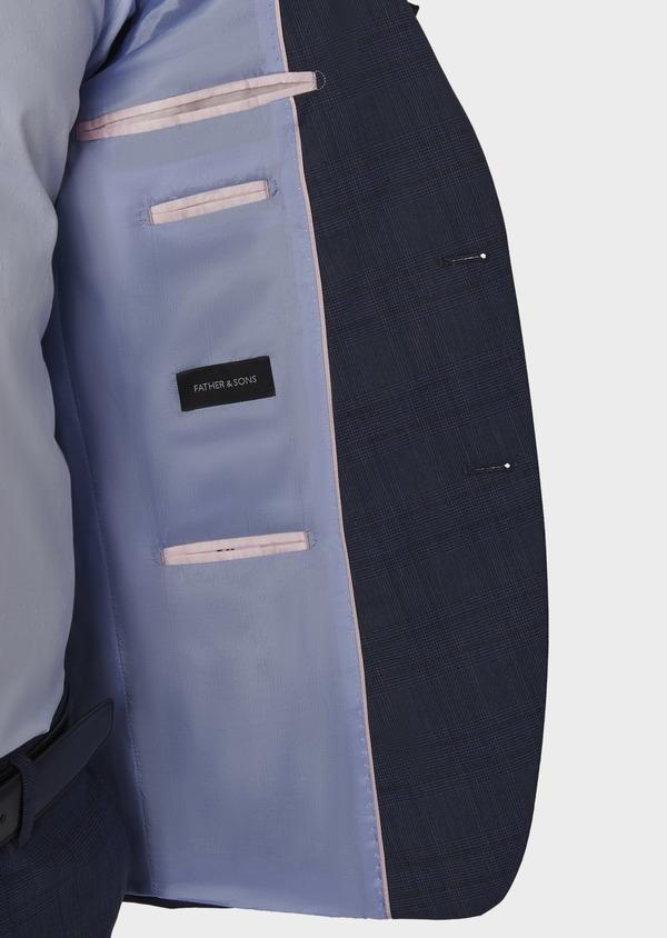 Costume 2 pièces Regular en laine bleu indigo Prince de Galles - Father and Sons 5717