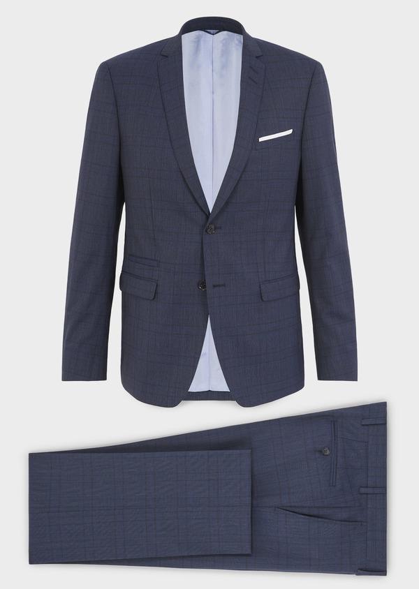 Costume 2 pièces Regular en laine bleu indigo Prince de Galles - Father and Sons 5711