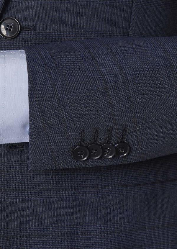 Costume 2 pièces Regular en laine bleu indigo Prince de Galles - Father and Sons 5716