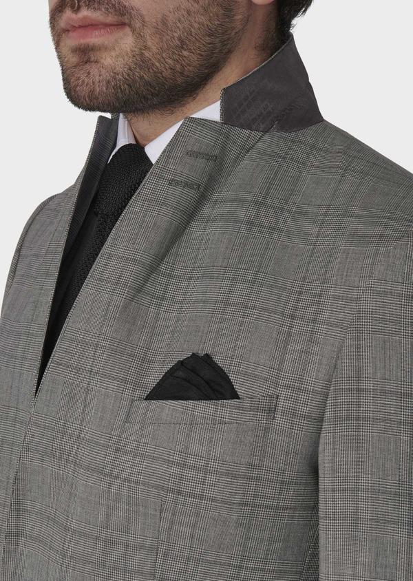 Costume 2 pièces Slim en laine grise Prince de Galles - Father and Sons 5725