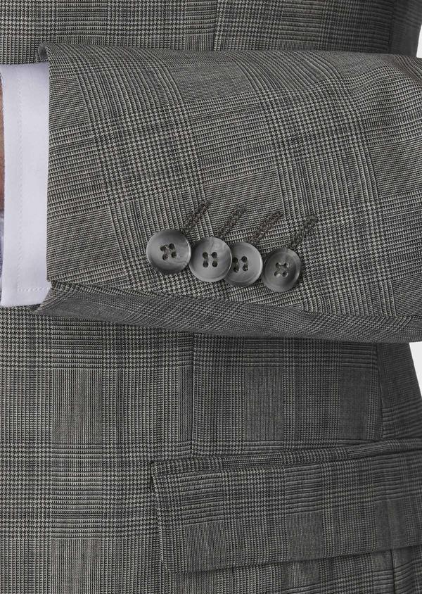 Costume 2 pièces Slim en laine grise Prince de Galles - Father and Sons 5726