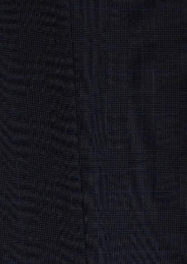 Costume 2 pièces Slim en laine bleu marine Prince de Galles montage Napolitain - Father and Sons 5892