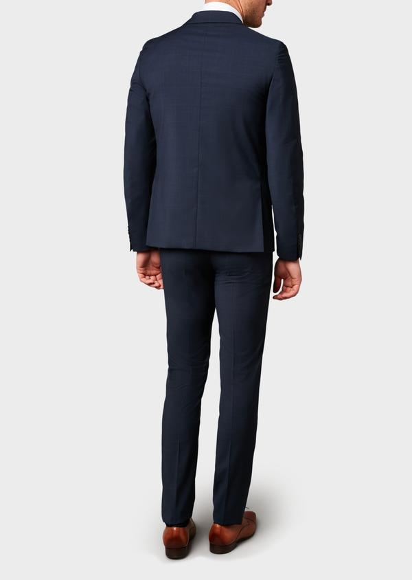 Costume 2 pièces Slim en laine bleu marine Prince de Galles montage Napolitain - Father and Sons 5894