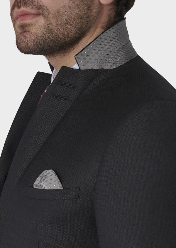 Costume 2 pièces Slim en laine façonnée unie gris anthracite - Father and Sons 5735
