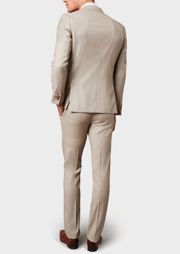 Costume 2 pièces Slim en laine beige - Father and Sons 5844