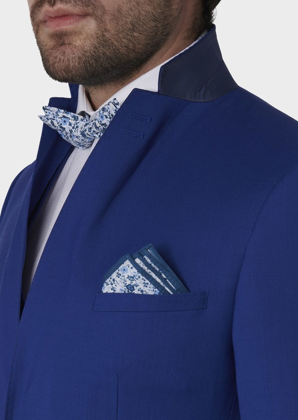 Costume 2 pièces Slim en laine unie bleu roi - Father and Sons 5745