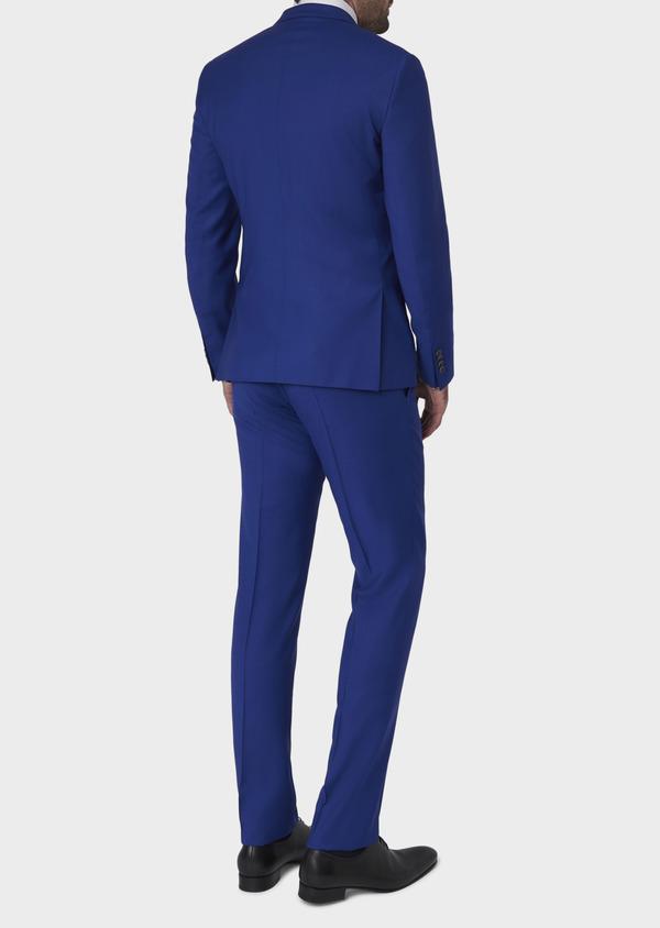 Costume 2 pièces Slim en laine unie bleu roi - Father and Sons 5744