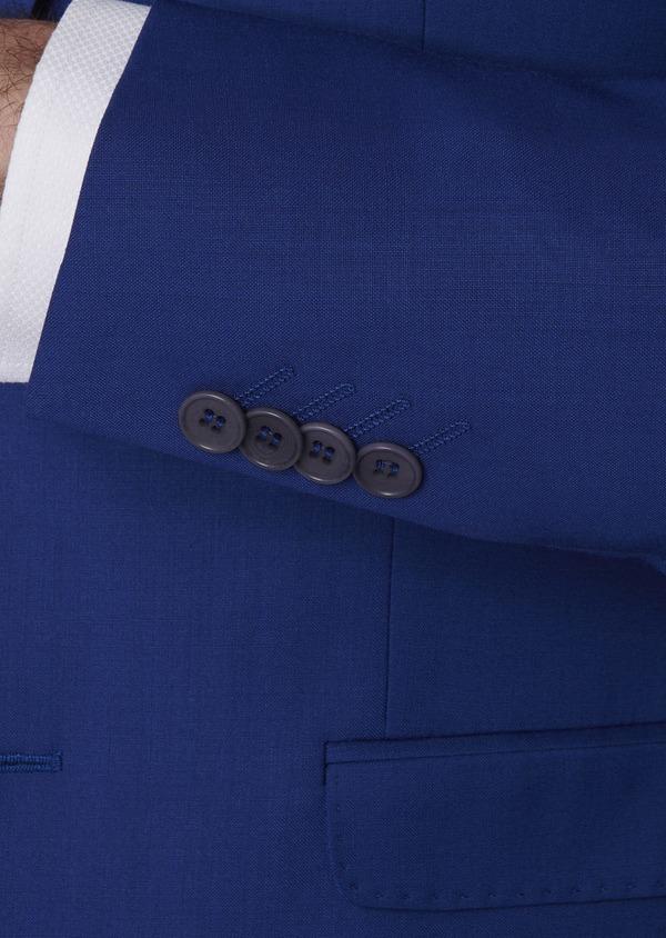 Costume 2 pièces Slim en laine unie bleu roi - Father and Sons 5746