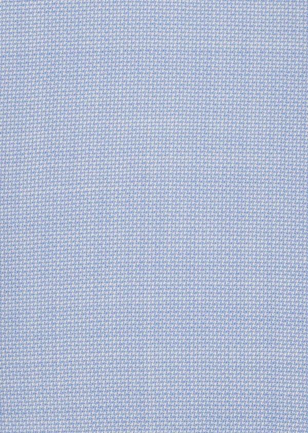 Costume 2 pièces Slim en laine façonnée unie bleu ciel - Father and Sons 5792