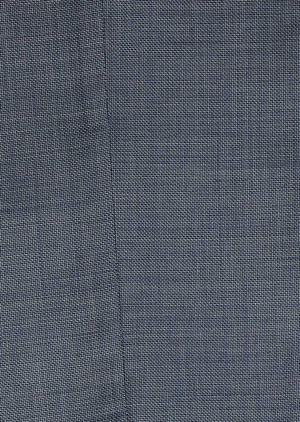 Costume 2 pièces Slim en laine façonnée unie bleu gris montage Napolitain - Father and Sons 5902