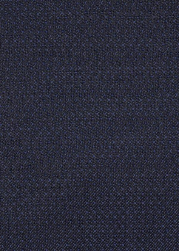 Costume 2 pièces Slim en laine façonnée unie bleu indigo - Father and Sons 5862