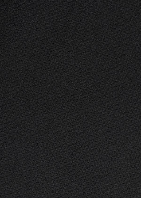Costume 2 pièces Slim en laine façonnée unie noire - Father and Sons 5852