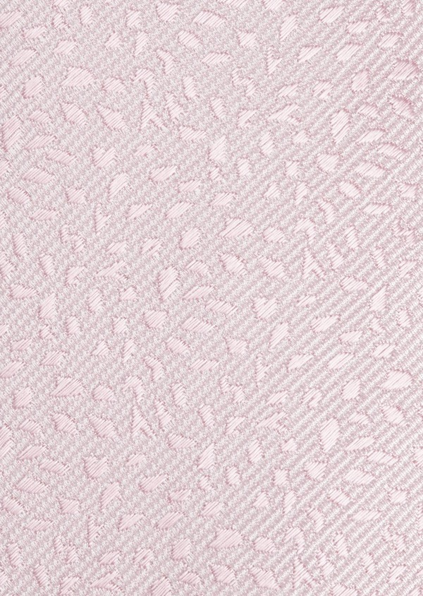 Cravate fine en soie à motif fantaisie rose clair - Father and Sons 6094