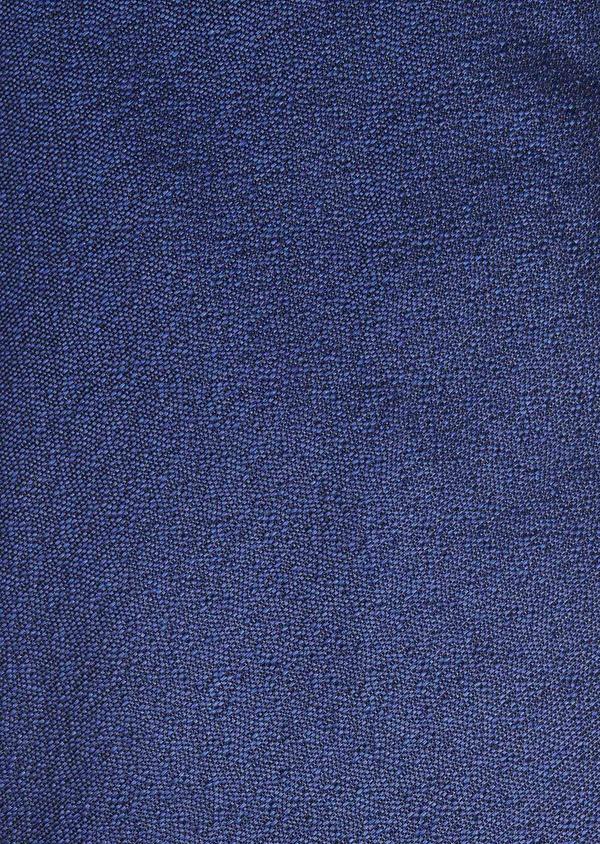 Cravate fine en soie unie bleue - Father and Sons 6122