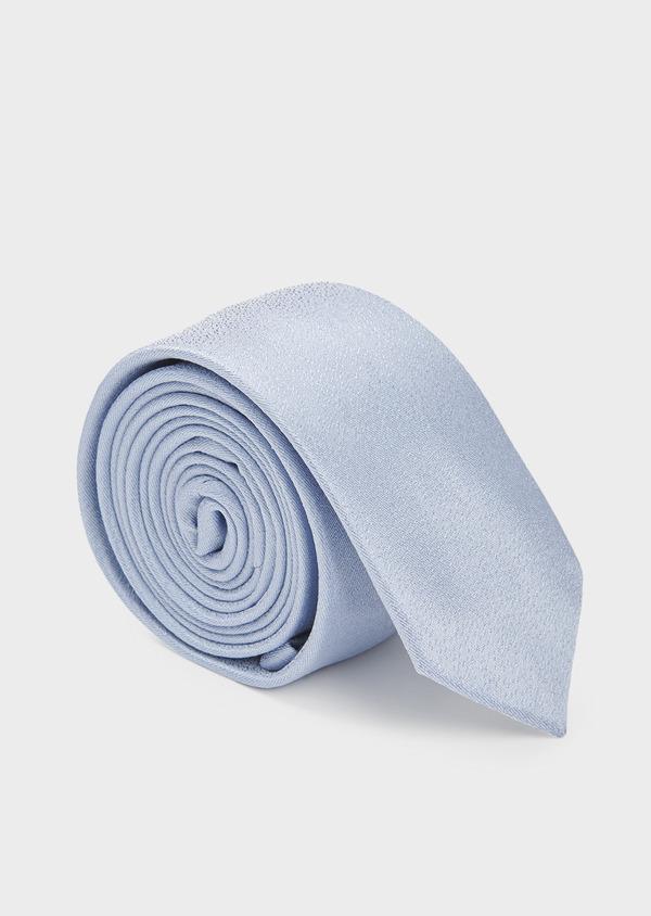 Cravate fine en soie unie bleu clair - Father and Sons 6125